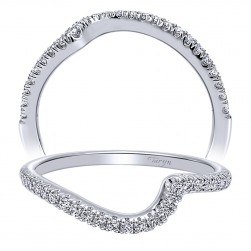 Taryn 14 Karat White Gold Curved Wedding Band TW10472W44JJ