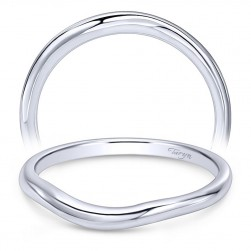 Taryn 14 Karat White Gold Curved Wedding Band TW10499W4JJJ