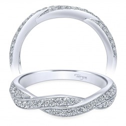 Taryn 14 Karat White Gold Curved Wedding Band TW10747W44JJ