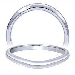 Taryn 14 Karat White Gold Curved Wedding Band TW10776W4JJJ