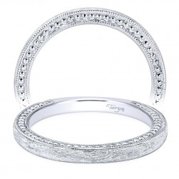 Taryn 14 Karat White Gold Curved Wedding Band TW10914W4JJJ