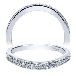 Taryn 14 Karat White Gold Curved Wedding Band TW11723R4W44JJ