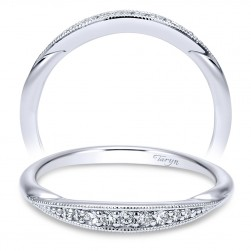 Taryn 14 Karat White Gold Curved Wedding Band TW11750R4W44JJ