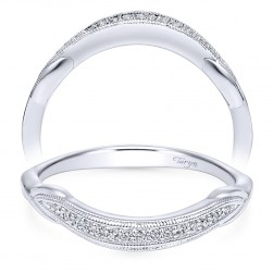 Taryn 14 Karat White Gold Curved Wedding Band TW11799R4W44JJ