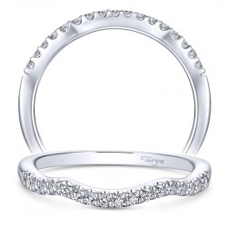Taryn 14 Karat White Gold Curved Wedding Band TW11828R3W44JJ