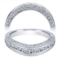 Taryn 14 Karat White Gold Curved Wedding Band TW11835R4W44JJ