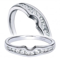 Taryn 14 Karat White Gold Curved Wedding Band TW4352W44JJ
