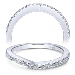 Taryn 14 Karat White Gold Curved Wedding Band TW5363W44JJ