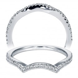 Taryn 14 Karat White Gold Curved Wedding Band TW5379W44JJ