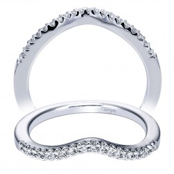 Taryn 14 Karat White Gold Curved Wedding Band TW5866W44JJ