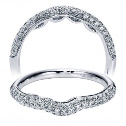 Taryn 14 Karat White Gold Curved Wedding Band TW6289W44JJ