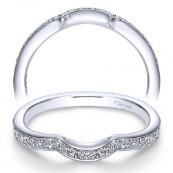 Taryn 14 Karat White Gold Curved Wedding Band TW6392W44JJ