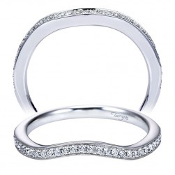 Taryn 14 Karat White Gold Curved Wedding Band TW6960W44JJ