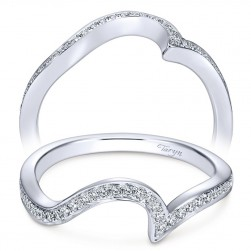 Taryn 14 Karat White Gold Curved Wedding Band TW7244W44JJ