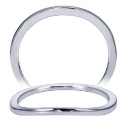 Taryn 14 Karat White Gold Curved Wedding Band TW7269W4JJJ