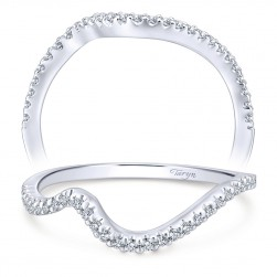 Taryn 14 Karat White Gold Curved Wedding Band TW7457W44JJ