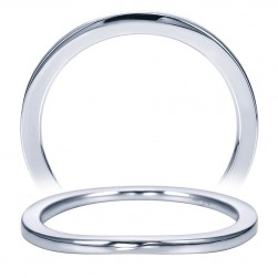 Taryn 14 Karat White Gold Curved Wedding Band TW7511W4JJJ