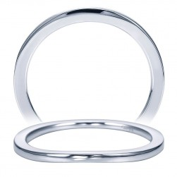 Taryn 14 Karat White Gold Curved Wedding Band TW7514W4JJJ