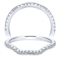 Taryn 14 Karat White Gold Curved Wedding Band TW7544W44JJ