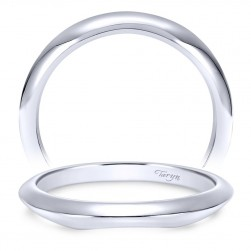 Taryn 14 Karat White Gold Curved Wedding Band TW7995W4JJJ