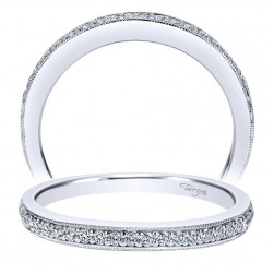 Taryn 14 Karat White Gold Curved Wedding Band TW7998W44JJ