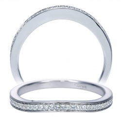 Taryn 14 Karat White Gold Curved Wedding Band TW8003W44JJ