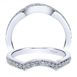 Taryn 14 Karat White Gold Curved Wedding Band TW8005W44JJ