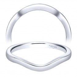 Taryn 14 Karat White Gold Curved Wedding Band TW8424W4JJJ