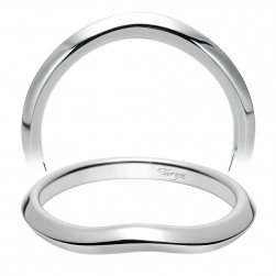 Taryn 14 Karat White Gold Curved Wedding Band TW8425W4JJJ