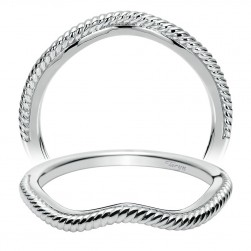 Taryn 14 Karat White Gold Curved Wedding Band TW8441W4JJJ