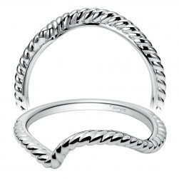 Taryn 14 Karat White Gold Curved Wedding Band TW8482W4JJJ