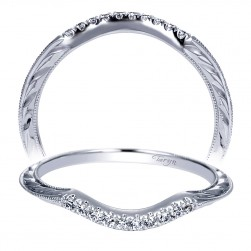 Taryn 14 Karat White Gold Curved Wedding Band TW8659W44JJ