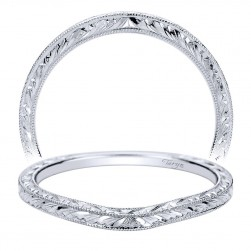 Taryn 14 Karat White Gold Curved Wedding Band TW8728W4JJJ