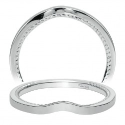 Taryn 14 Karat White Gold Curved Wedding Band TW8729W4JJJ