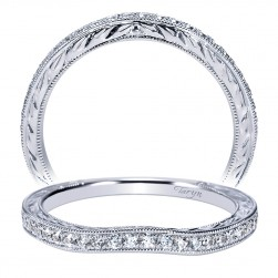 Taryn 14 Karat White Gold Curved Wedding Band TW8800W44JJ