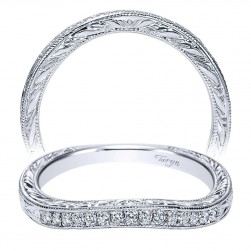 Taryn 14 Karat White Gold Curved Wedding Band TW8833W44JJ