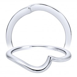 Taryn 14 Karat White Gold Curved Wedding Band TW8862W4JJJ