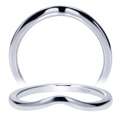 Taryn 14 Karat White Gold Curved Wedding Band TW9006W4JJJ
