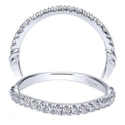 Taryn 14 Karat White Gold Curved Wedding Band TW911789R0W44JJ