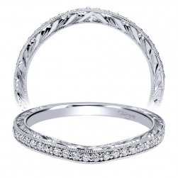 Taryn 14 Karat White Gold Curved Wedding Band TW911896R0W44JJ