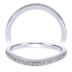 Taryn 14 Karat White Gold Curved Wedding Band TW911903R0W44JJ