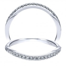 Taryn 14 Karat White Gold Curved Wedding Band TW911925R1W44JJ