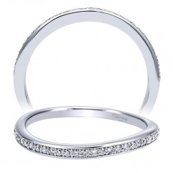 Taryn 14 Karat White Gold Curved Wedding Band TW911957R0W44JJ