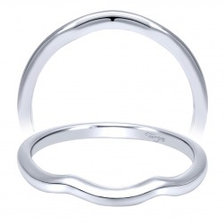 Taryn 14 Karat White Gold Curved Wedding Band TW911958R2W4JJJ