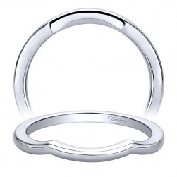 Taryn 14 Karat White Gold Curved Wedding Band TW9599W4JJJ