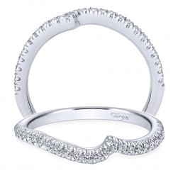 Taryn 14 Karat White Gold Round Curved Wedding Band TW10308W44JJ