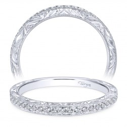Taryn 14 Karat White Gold Round Curved Wedding Band TW7529W44JJ