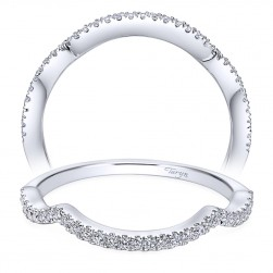 Taryn 14 Karat White Gold Round Curved Wedding Band TW7543W44JJ