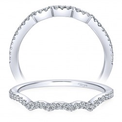 Taryn 14 Karat White Gold Round Curved Wedding Band TW7805W44JJ