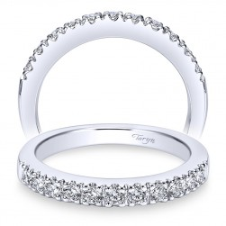Taryn 14 Karat White Gold Round Straight Wedding Band TW3950W44JJ